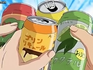 Hentai babe loving anal dildo