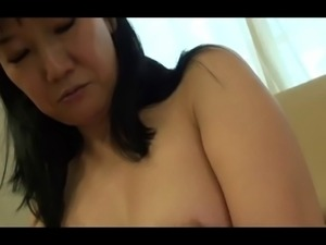 55yr old Granny Natsu Sasamoto Creampied again (Uncensored)