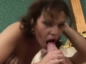 Virginie sucks and rides her man's cock