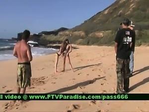 Faye and Larysa two ingenious stunning babes on the beach