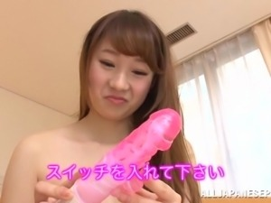 cute japanese girl tries out sex toys