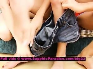 Gianna and Elise and Milana lusty lesbian dolls toying