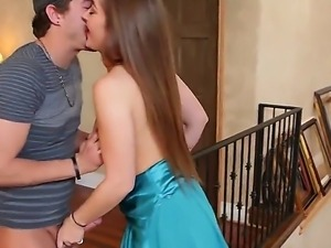 Aluring brunette Dani Daniels loves taking Xander Corvus long pulsating dick...