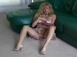 Racquel is stroking hubby's dick while playing her pussy.