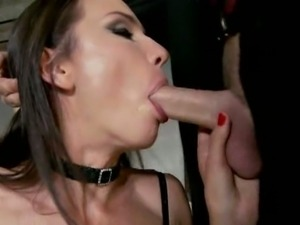 Skinny model ass fucked by two guys