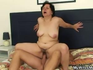 Horny bastard fucks mother in law