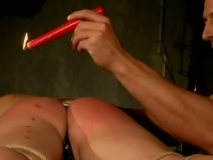 Candle wax on red ass