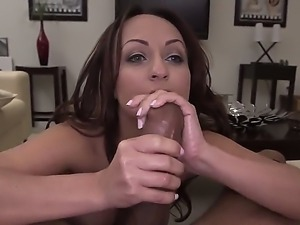 Pretty experienced brunette milf Vanessa Luna with great hunger for cock...