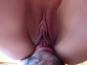 lick, suck and fuck my wife's pussy close-up (great moans)