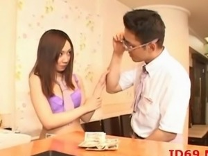 Japanese AV pretty hot Model has her pussy touched