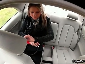 Taxi driver cheats gorgeous blonde part5