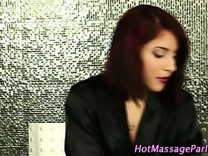 Redhead gives erotic massage