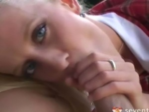 This is an adorable blonde haired, blue eyed, perky little boobies teen girl...