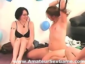 Amateur group plays in real sexy party game