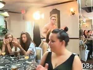 Doxies sucking in strip club