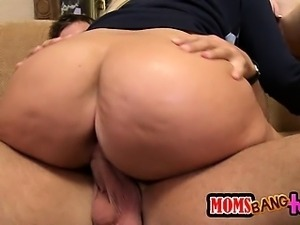 Big titty Mom sows the youngsters how it is done.
