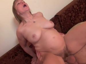 Hairy pussy granny stuffed hard