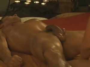 Prostate massage with hot chick