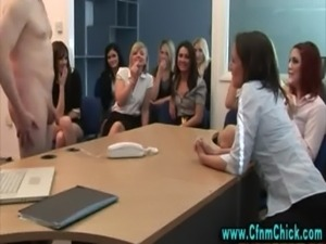 Cfnm office slags humiliate bossman free