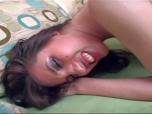 Long haired young cuttie Kelly Divine with big firm tits and slim sexy body...
