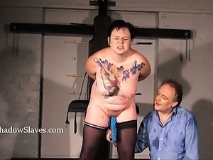 Hellpain amateur whipping and tattooed slaveslut