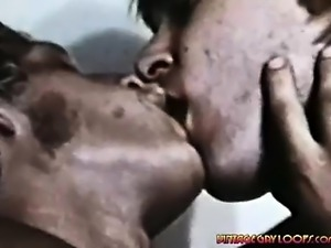 Sexy Gay Pushing His Hard Dick Far Inside A Man's Warm Mouth