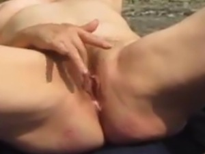 Mature Married milf and housewife. A day in the woods. Hubby fiming me. After...