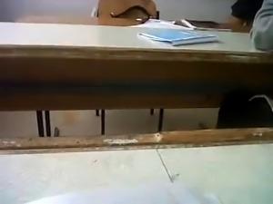 Teacher legs and upskirt in class room by Peter185