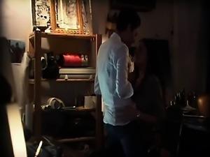 Rosanna Arquette kissing Katherine Moennig on her stomach