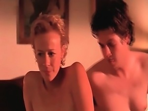 Katja Riemann nude having sex with a guy, after that a guy