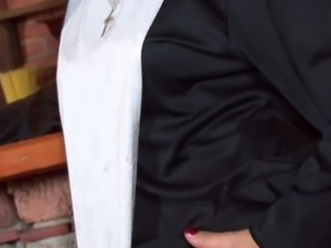 Nun Renate black gets fucked in the ass by priest
