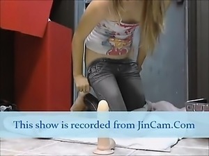 Smalltits teen masturbates toys livecams after school