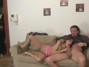 Young slut fucks her boyfriend's parents