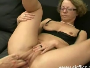Mature amateur slut is brutally double fisted and ass fucked by two merciless...