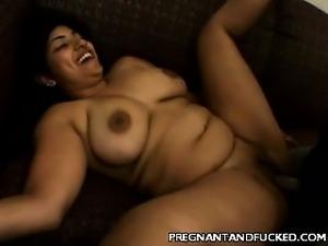 Big Tits Prego Cock Rammed