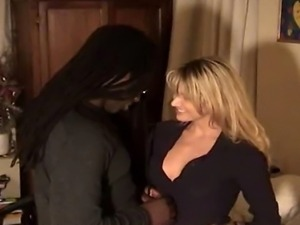 Blonde White Wife with Black Lover - Homemade Interracial Cuckold