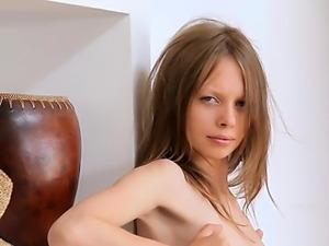 Small nipples of skinny super girl