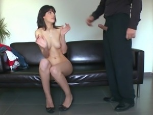 Fresh girl Carol Vega comes in for a casting