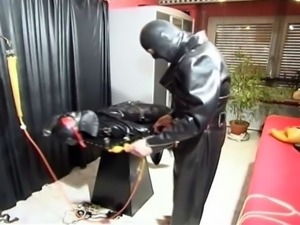Kinky couple adores leather clothing... and fetish sex too