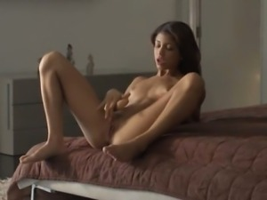 Wet orgasm of exotic beauty masturbate