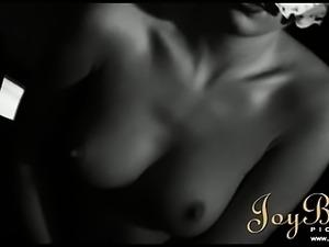 Stunning masked girl massaging her pussy sensually