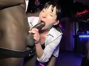 Mature Isabelle fucked into a club