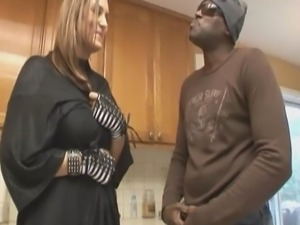 Wonderful milf with big breast Trina Michaels fucks black guy