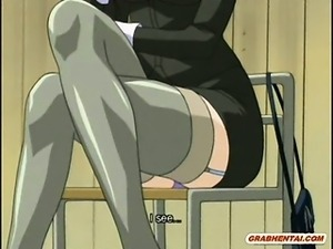 Roped hentai cutie sucking and fucking bigcock in the bus
