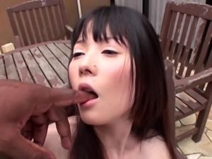 skinny japanese slut gets groped by big black guy