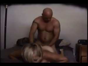 Blonde wife on real hidden cam