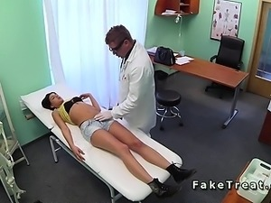 Doctor fucks Serbian patient on security camera