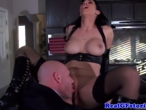 Dominant housewife demands a good licking