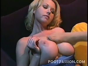 Britney Foster and Carolyn Monroe are blonde lesbians with