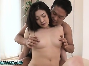 Japanese cutie fingered and nipple sucked
